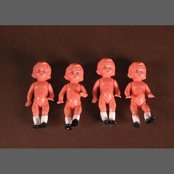 Vier Puppen um 1950