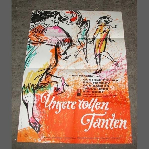 Cartel de cine vintage....