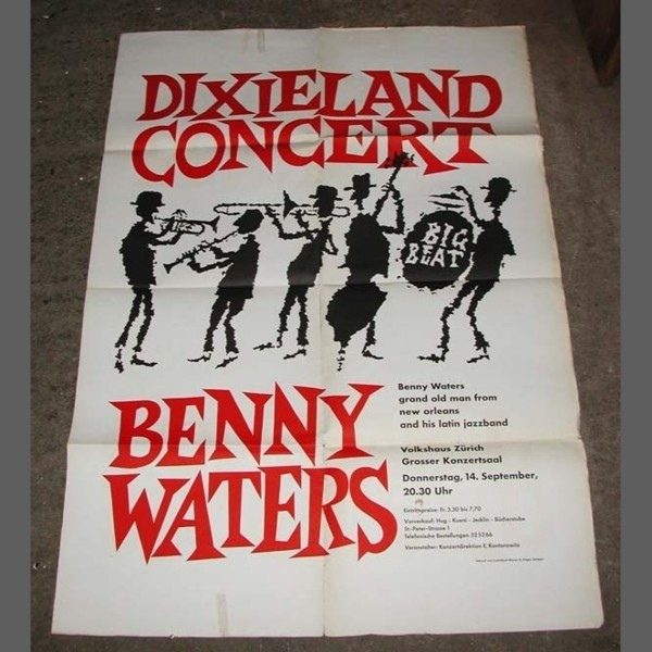 Concert poster. Benny Waters