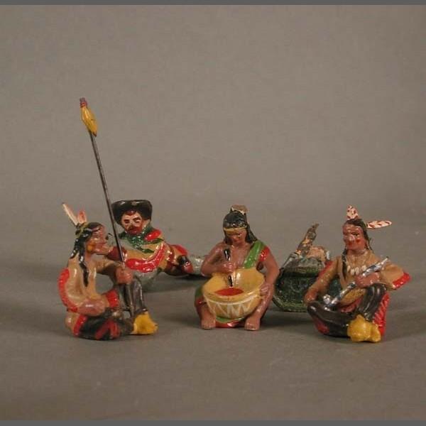 Indianer von Elastolin....
