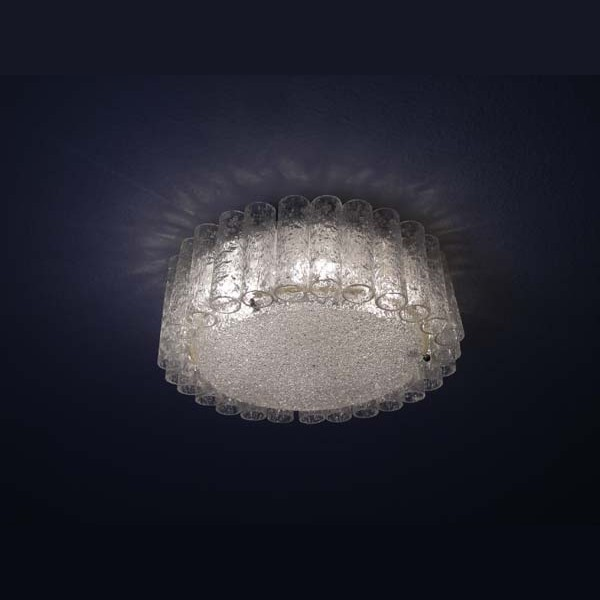 Glass ceiling lamp. Doria...