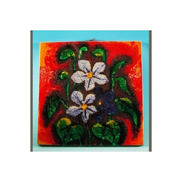 Vintage. Big ceramic tile....