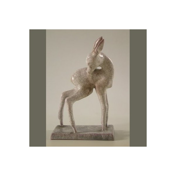Ceramic deer figure. West...