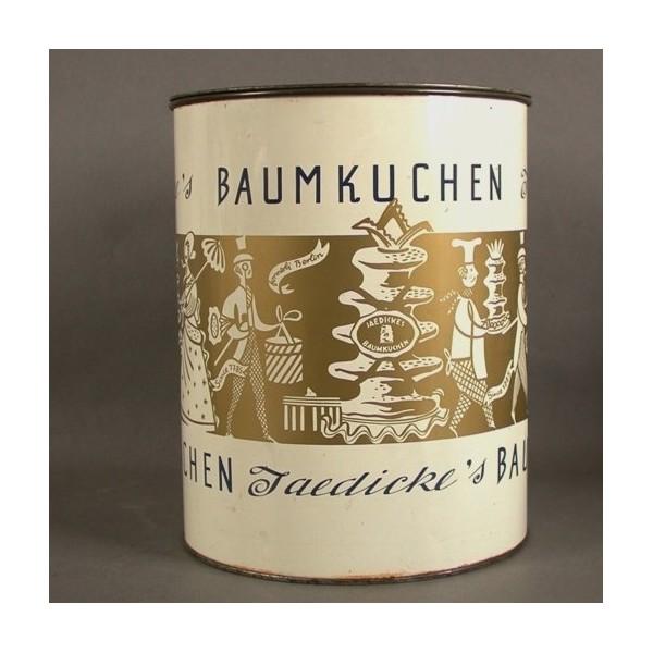 Advertising tin. Baumkuchen...