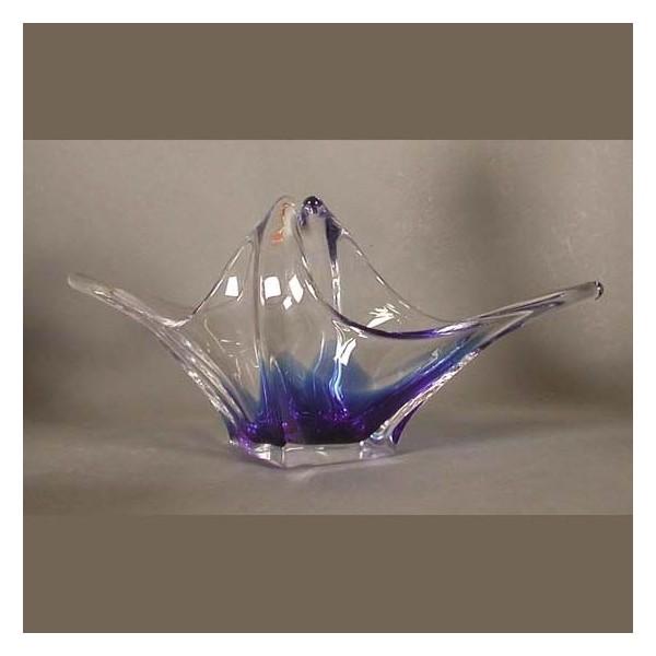 Big glass bowl. Bohemia...