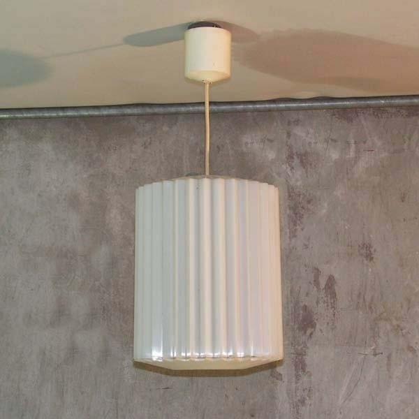 Plastic ceiling lamp. Erco...