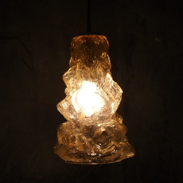 Ceiling glass lamp. Peill &...