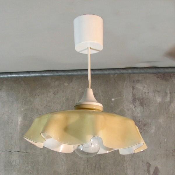 Vintage.Glass ceiling lamp....