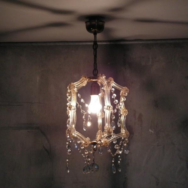 Lámpara de cristal de...
