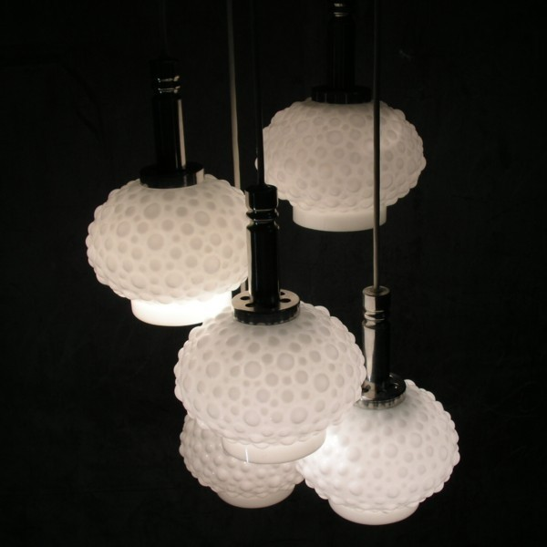 Vintage. Cascade glass lamp...