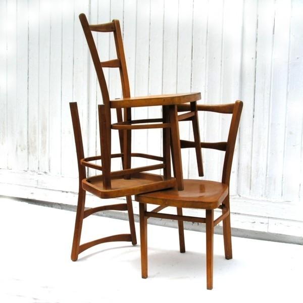 Shabby chic. Tres sillas de...