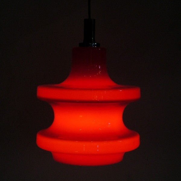 Design. Red ceiling glass...