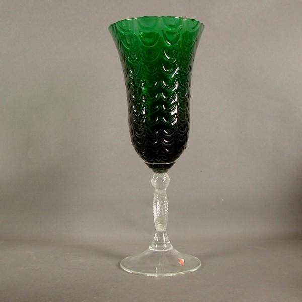 Murano. Big glass in green...