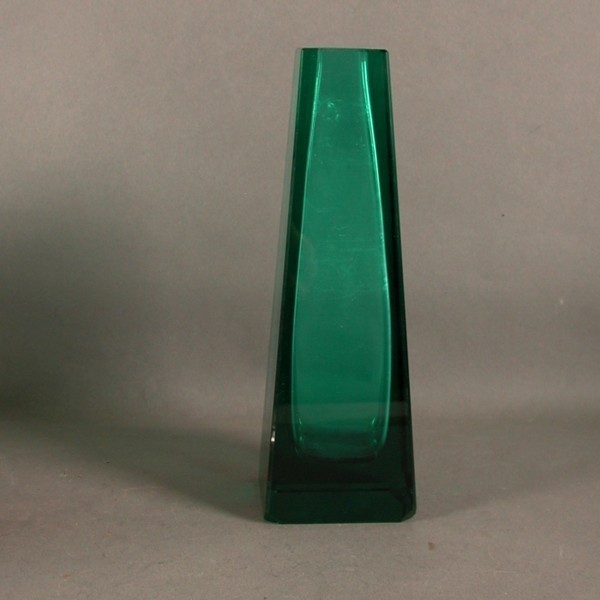 Vintage. Florero de cristal...