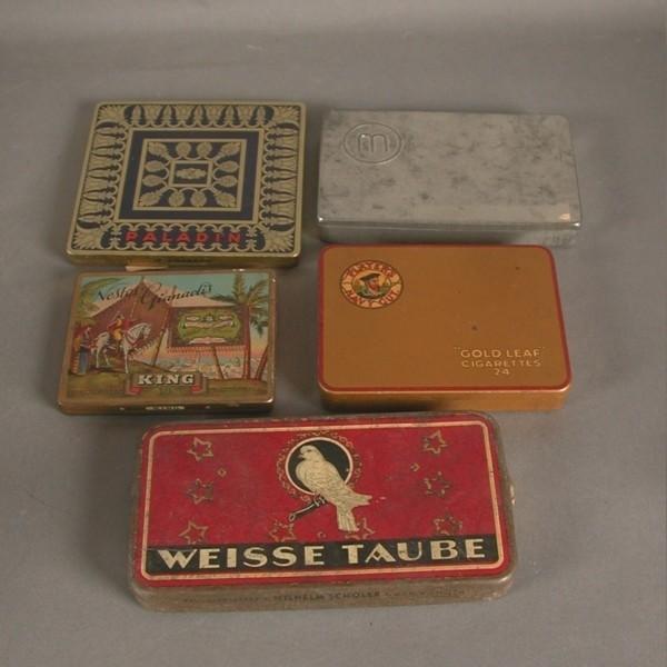 Cinco cajas de chapa. 1920...