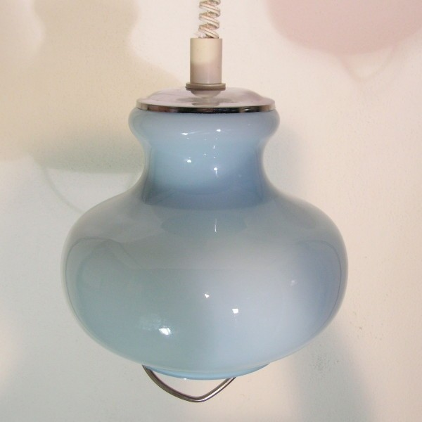 Light blue ceiling glass...