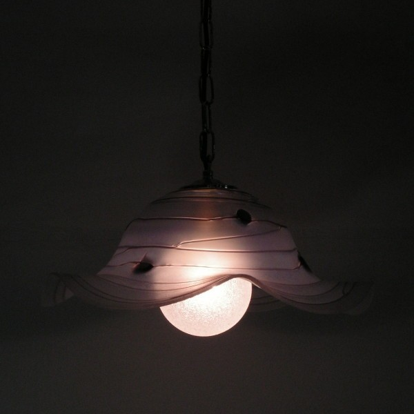 Heavy pendant glass lamp....