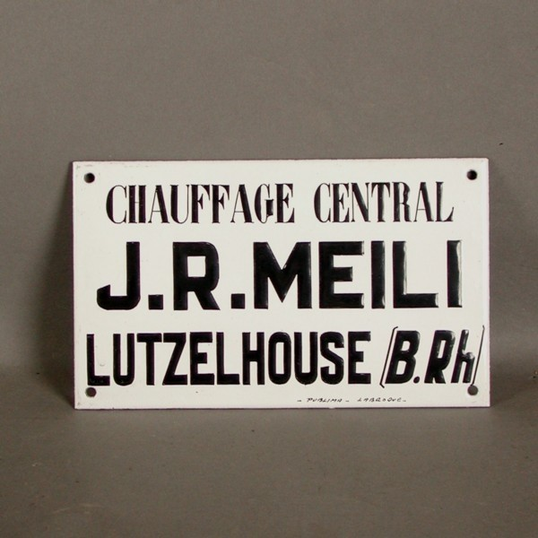 Advertising sign. J.R.Meli....