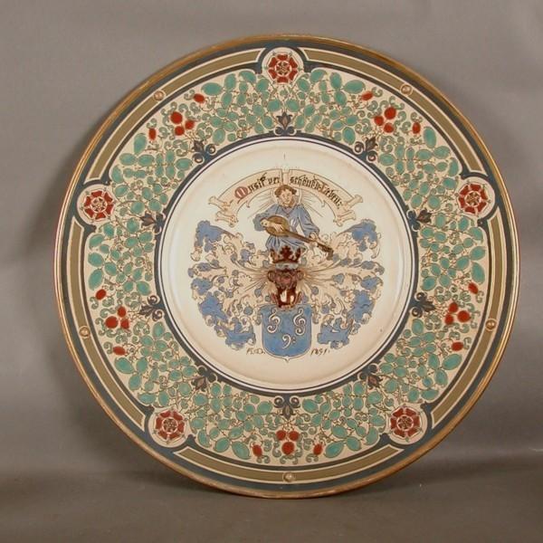 Mettlach. Ceramic. Plate....