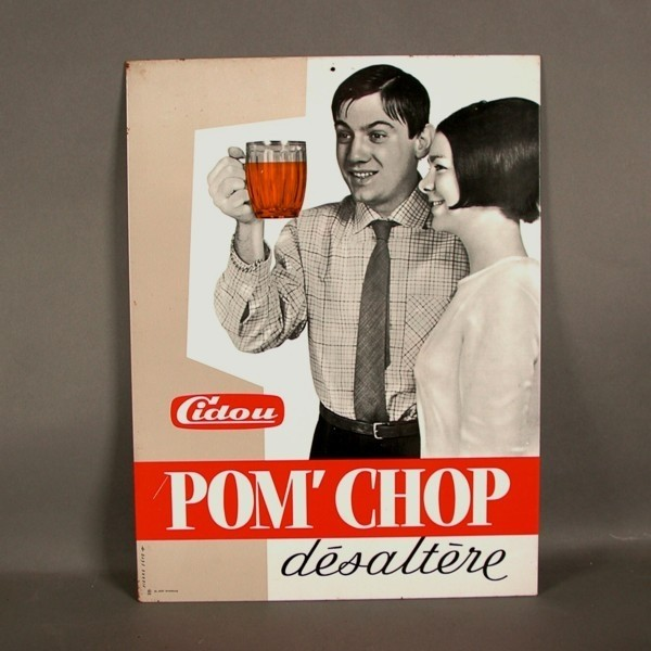 Advertising tin. Pom´Chop....