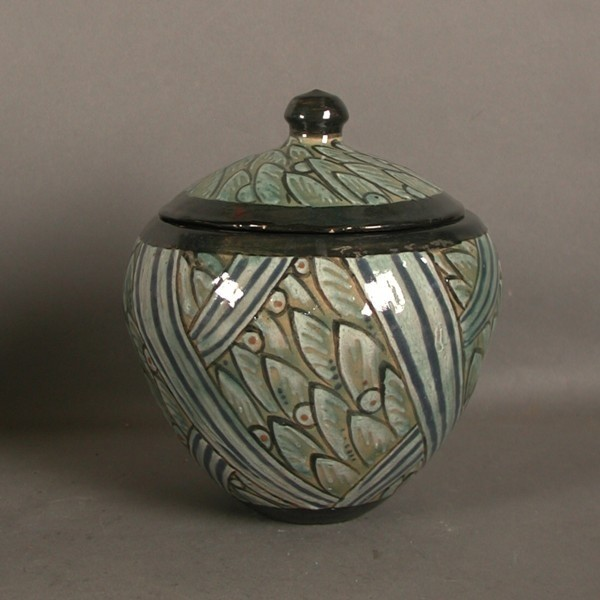 Art Nouveau. Earthenware...
