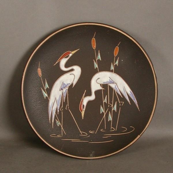 Ruscha. Ceramic wall plate....
