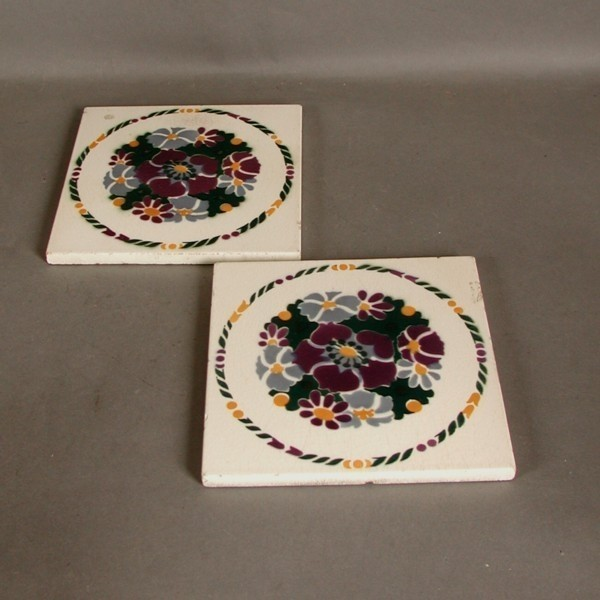 Two Art Nouveau tiles....