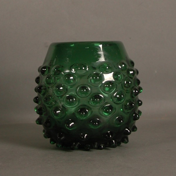 Prachen. Green glass vase....