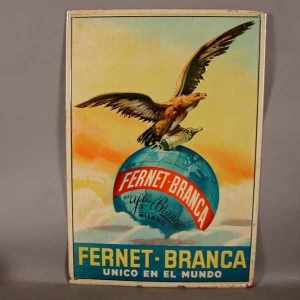 Advertising sign. Fernet...