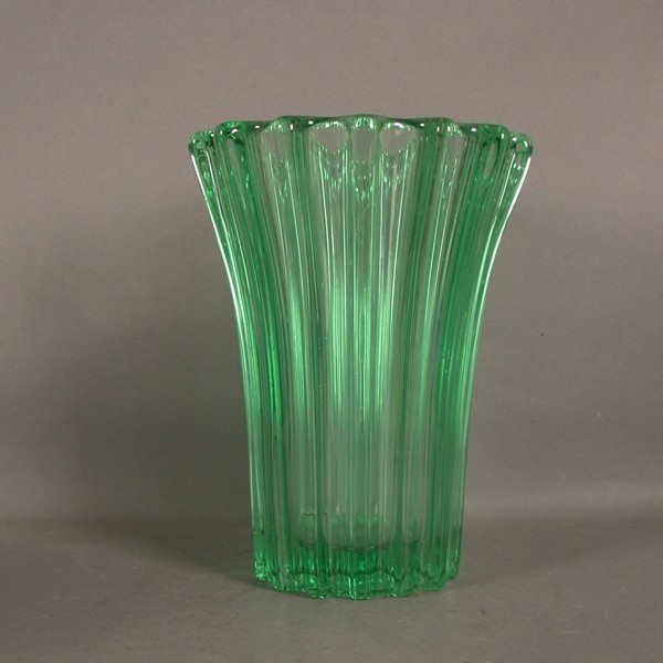 Art Deco. Glass vase. 1930...