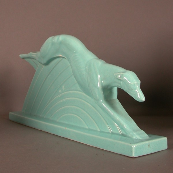 Art Deco Figur. Windhund....