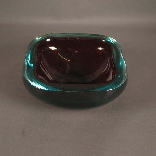 Murano. Glass ashtray....