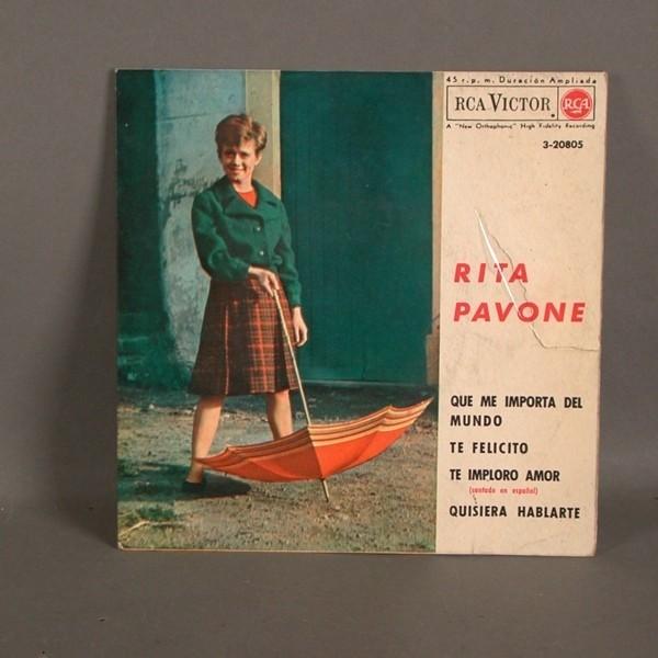 EP. Vinyl. Rita Pavone....