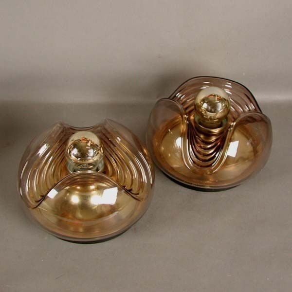 Two ceiling lamps. Peill &...
