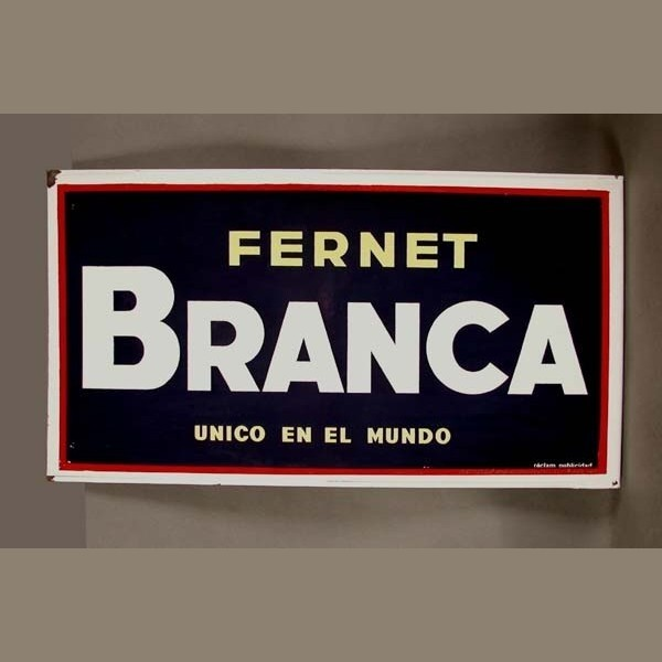 Enamel sign. Fernet Branca....