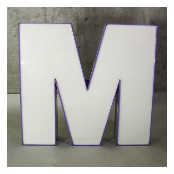 Big vintage sign letter - M...