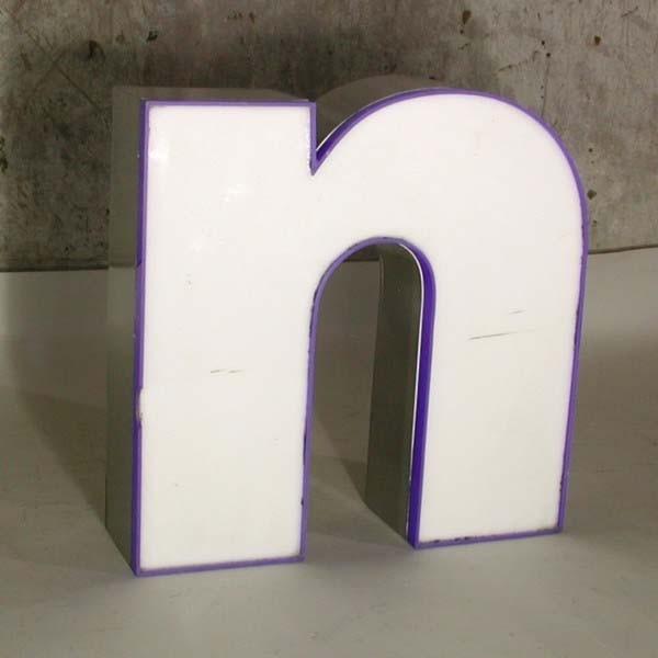 Big vintage sign letter - n...