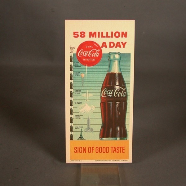 Coca - Cola Blotter. Sign...