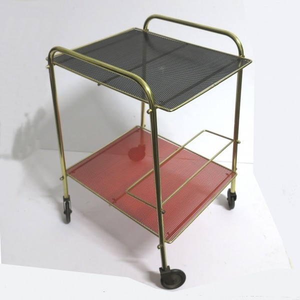 Metal serving trolley....