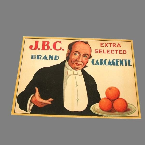 Orange crate label. J.B.C....