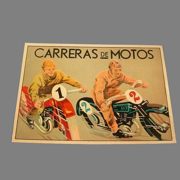 Motorcycle poster. Carreras...