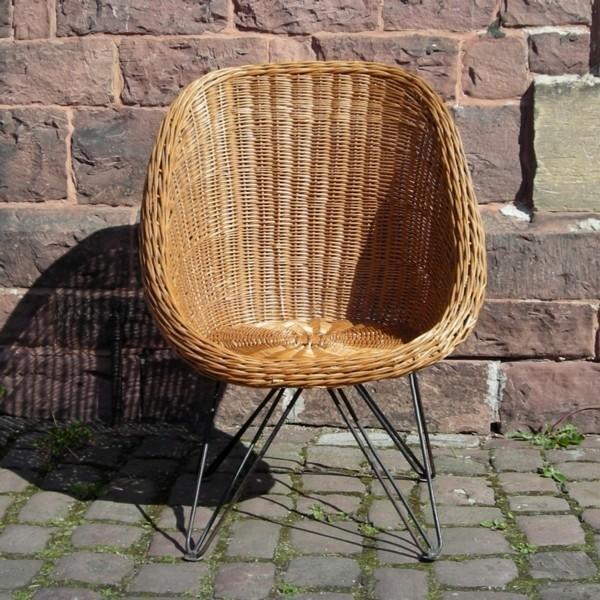 Vintage. Rattan chair. 1950...