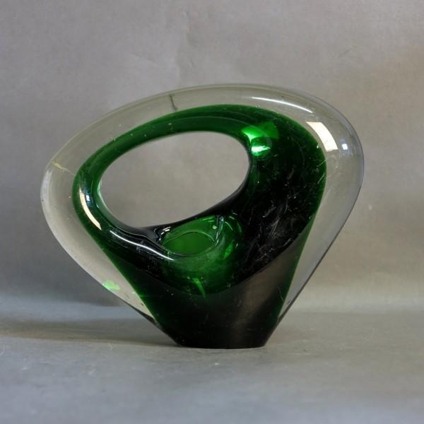 Glass vase. Holmegaard...