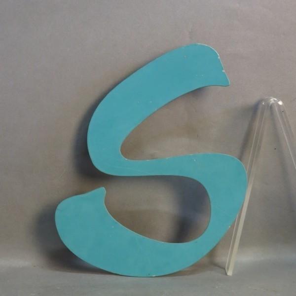 Big vintage sign letter - S...