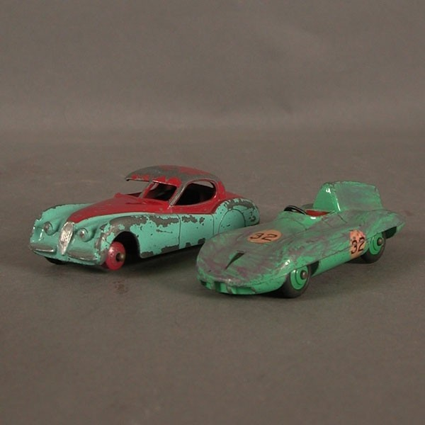 Two model cars from Dinky...