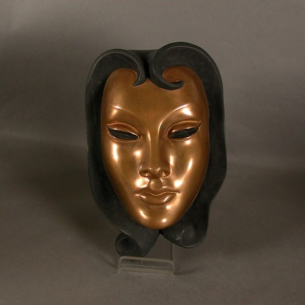 Keramik Wandmaske. 1950 -...