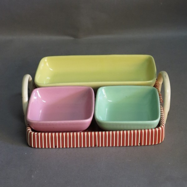Tray set with bowls for...