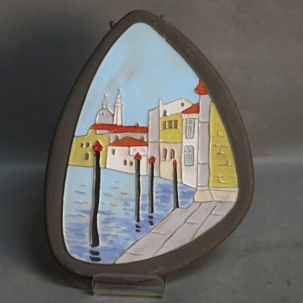 Vintage. Placa de cerámica...
