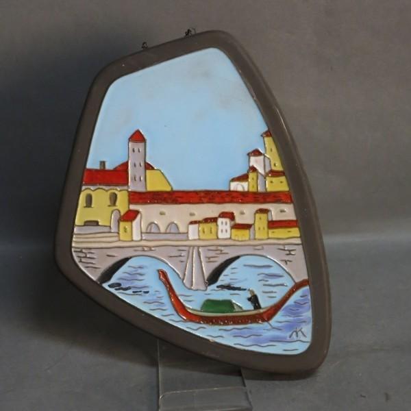 Vintage. Ceramic wall plate...