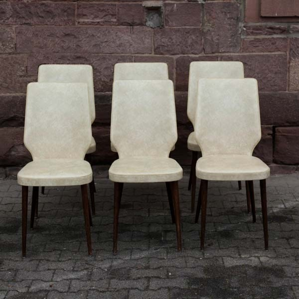 Six vintage chairs in...